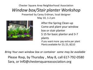 window box workshop flyer